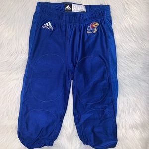Kansas Jayhawks men large football pants A